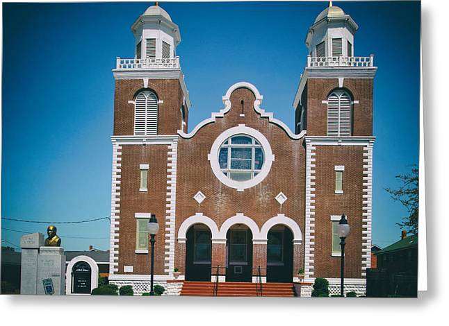 Selma Greeting Cards - Brown Chapel in Selma Alabama Greeting Card by Mountain Dreams