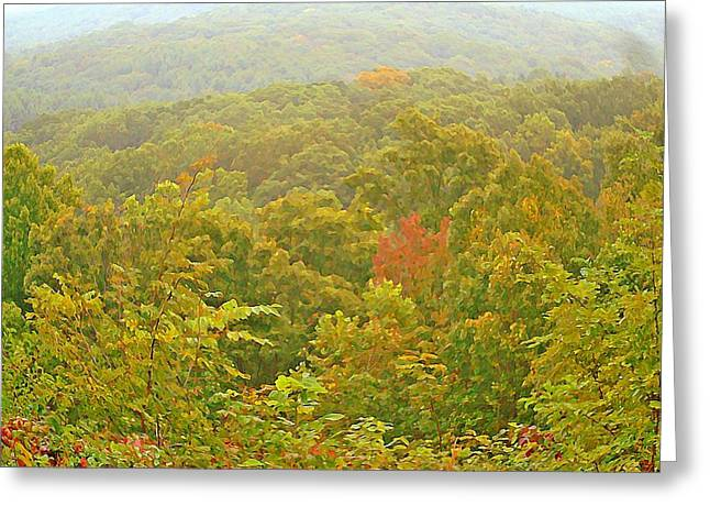 Indiana Autumn Greeting Cards - Brown County Beginnings Greeting Card by BackHome Images