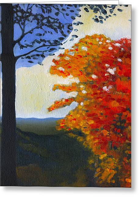 Indiana Autumn Greeting Cards - Brown County Indiana Greeting Card by Katherine Miller