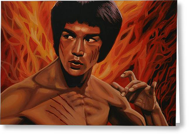 Fist Greeting Cards - Bruce Lee Greeting Card by Paul  Meijering