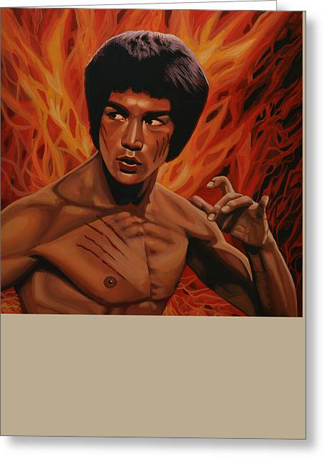 Returning Greeting Cards - Bruce Lee Greeting Card by Paul Meijering