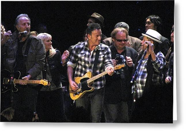 Bruce Springsteen Greeting Card by Melinda Saminski