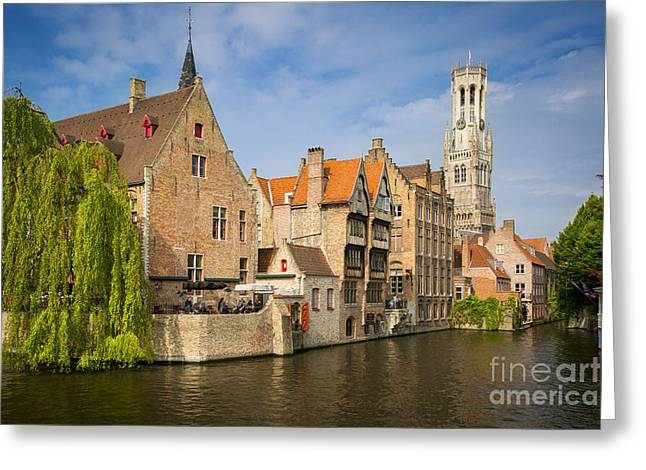 The North Greeting Cards - Bruges Canals Greeting Card by Brian Jannsen