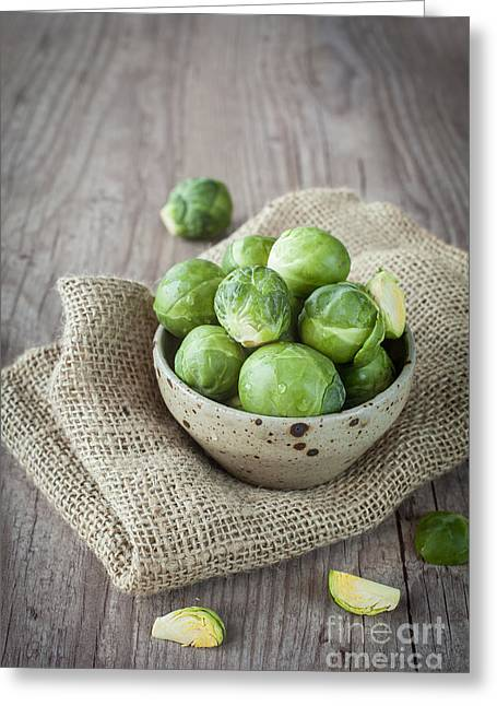 Broccoli Greeting Cards - Brussels sprouts Greeting Card by Sabino Parente