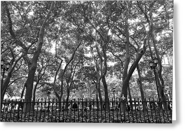 Bryant Greeting Cards - Bryant Park Greeting Card by Paul Kimmerling