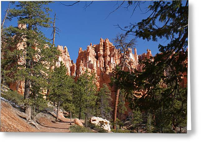 Path Greeting Cards - Bryce Canyon National Park Greeting Card by Michael J Bauer