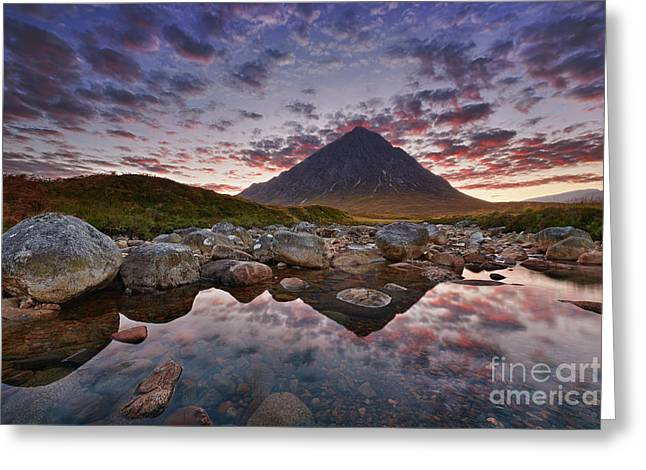 Glen Etive Greeting Cards - Buachaille Etive Mor Greeting Card by Rod McLean