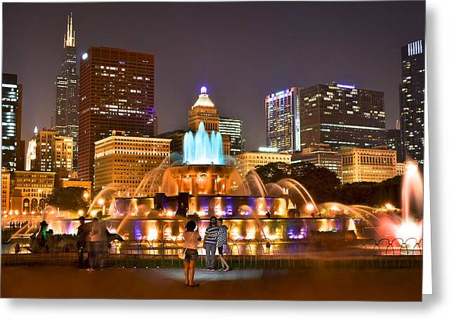 Inner World Greeting Cards - Buckingham Fountain Greeting Card by Frozen in Time Fine Art Photography