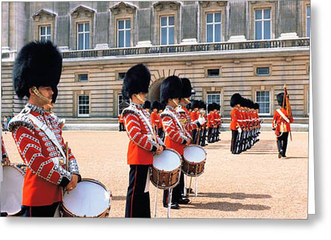 Marching Band Greeting Cards - Buckingham Palace London England Greeting Card by Panoramic Images