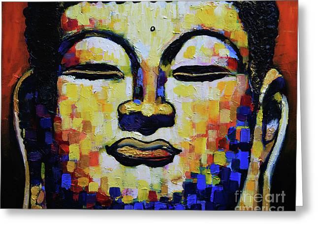 Buddha Head Greeting Card by Stephen Humphries