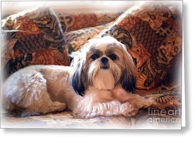 Full-length Portrait Greeting Cards - Buddy Greeting Card by Allen Beatty