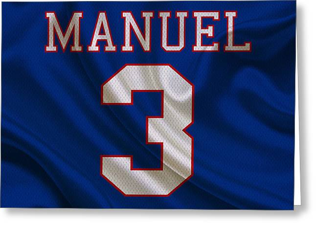 Manuel Greeting Cards - Buffalo Bills Ej Manuel Greeting Card by Joe Hamilton