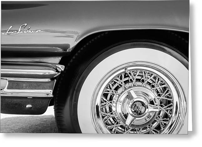 Buick Greeting Cards - Buick LeSabre Wheel Emblem Greeting Card by Jill Reger
