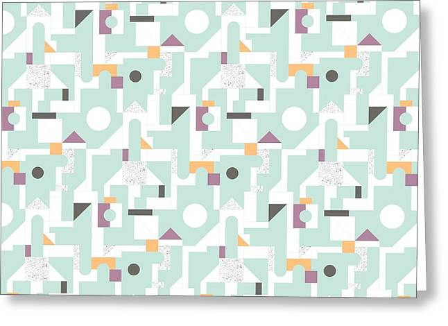 Patterns Paintings Greeting Cards - Building Blocks Greeting Card by Laurence Lavallee