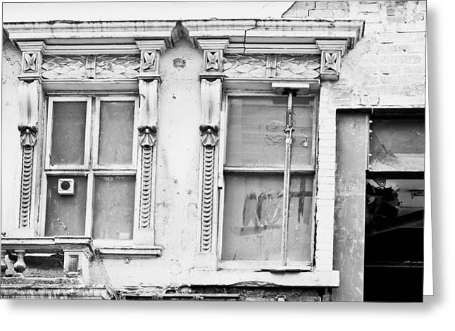 Structural Greeting Cards - Building repair Greeting Card by Tom Gowanlock