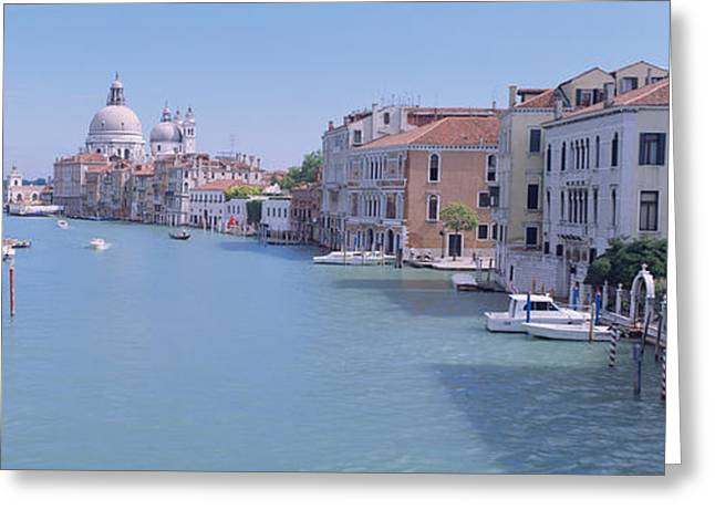 Wooden Building Greeting Cards - Buildings Along A Canal, Santa Maria Greeting Card by Panoramic Images