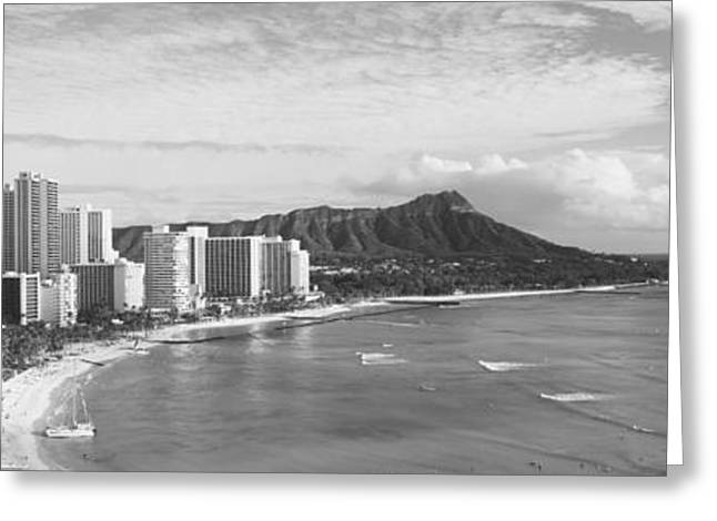 Panoramic Ocean Greeting Cards - Buildings At The Coastline Greeting Card by Panoramic Images
