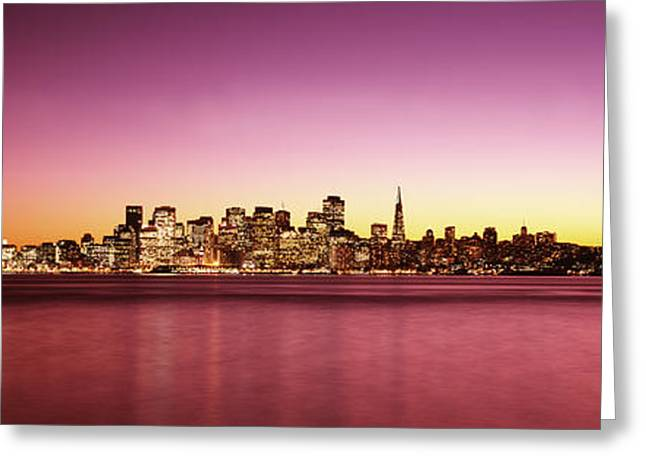 San Francisco Bay Greeting Cards - Buildings At The Waterfront, Bay Greeting Card by Panoramic Images