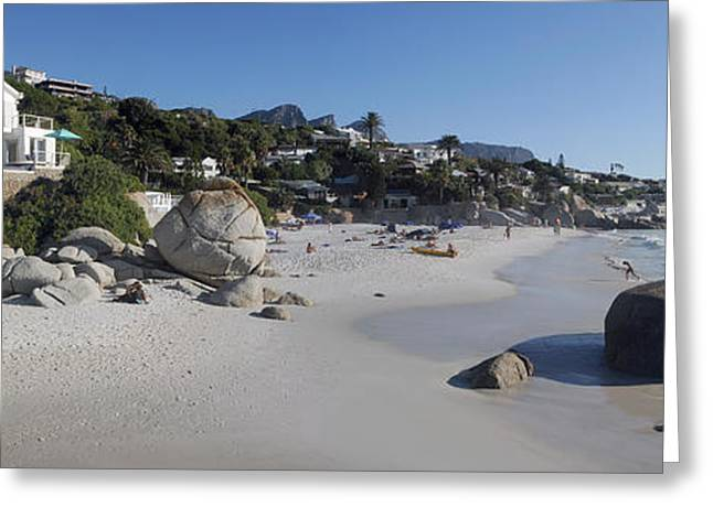 Cape Town Greeting Cards - Buildings At The Waterfront, Clifton Greeting Card by Panoramic Images