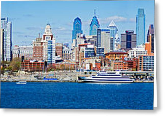 Delaware River Greeting Cards - Buildings At The Waterfront, Delaware Greeting Card by Panoramic Images