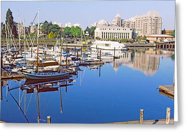 Inner Reflections Greeting Cards - Buildings At The Waterfront, Inner Greeting Card by Panoramic Images