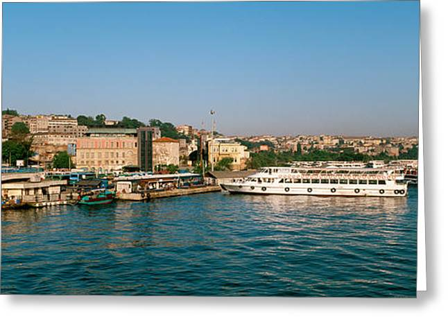 Istanbul Greeting Cards - Buildings At The Waterfront, Istanbul Greeting Card by Panoramic Images
