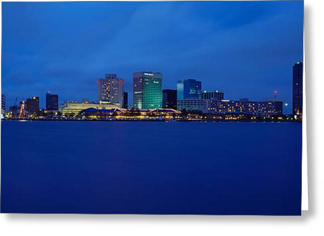 Va Greeting Cards - Buildings At The Waterfront, Norfolk Greeting Card by Panoramic Images