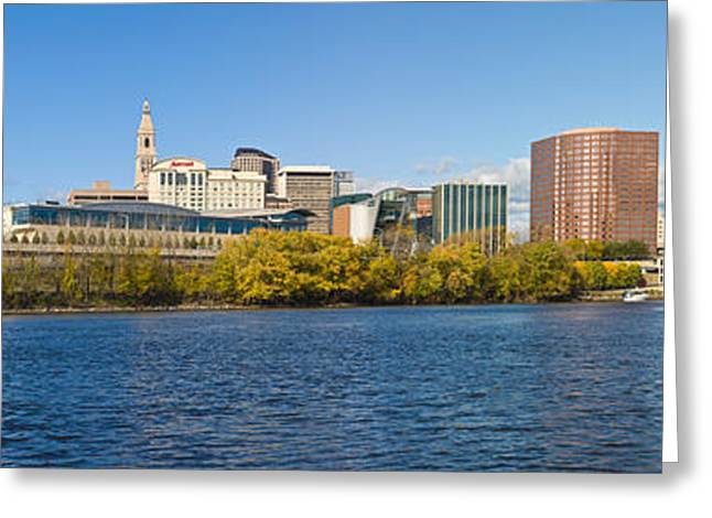 Connecticut River Greeting Cards - Buildings At The Waterfront Greeting Card by Panoramic Images
