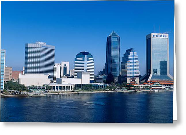 Duval County Greeting Cards - Buildings At The Waterfront, St. Johns Greeting Card by Panoramic Images