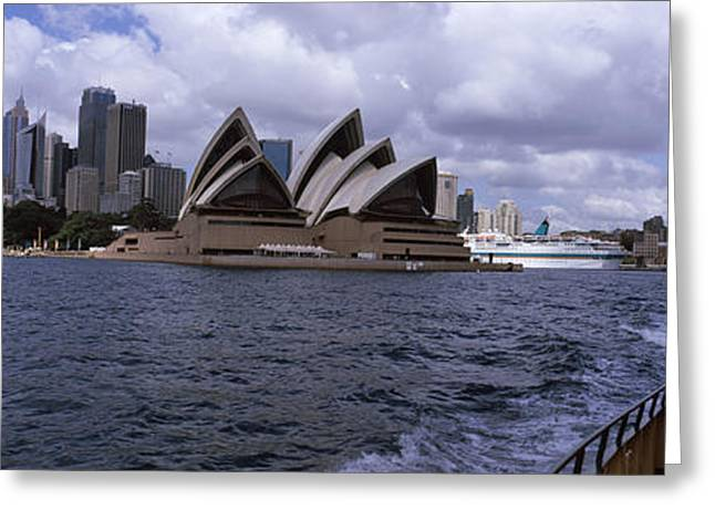 Arts Culture And Entertainment Greeting Cards - Buildings At The Waterfront, Sydney Greeting Card by Panoramic Images