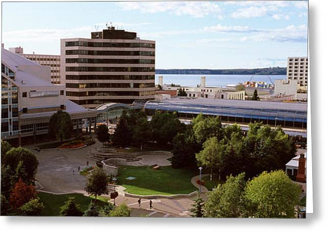 Alaska Photography Greeting Cards - Buildings In A City, Alaska Center Greeting Card by Panoramic Images