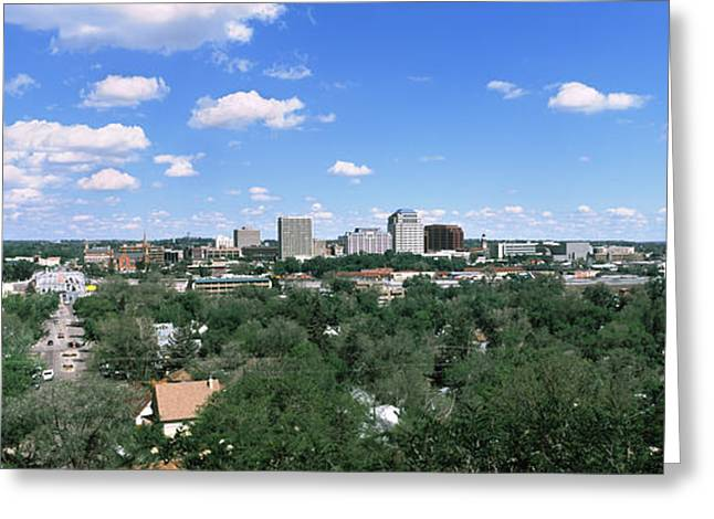 Colorado Springs Greeting Cards - Buildings In A City, Colorado Springs Greeting Card by Panoramic Images