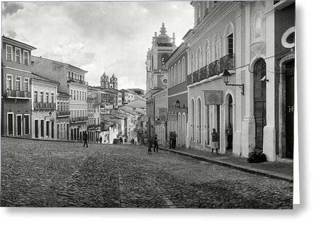 Buildings In A City, Pelourinho Greeting Card by Panoramic Images