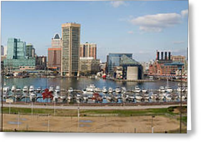 Inner Harbor Greeting Cards - Buildings Near A Harbor, Inner Harbor Greeting Card by Panoramic Images