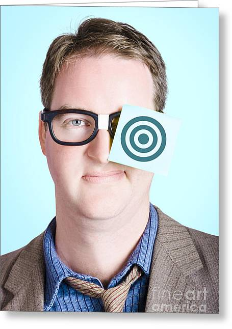 Ambition Greeting Cards - Bullseye target. Aims and goals Greeting Card by Ryan Jorgensen