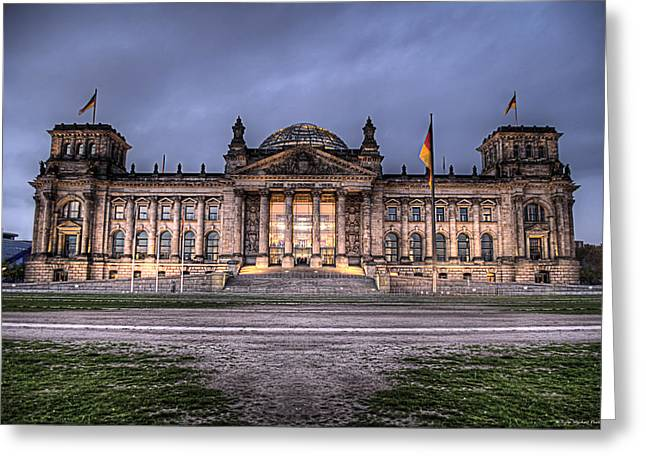 Berlin Germany Greeting Cards - Bundestag Greeting Card by Ryan Wyckoff