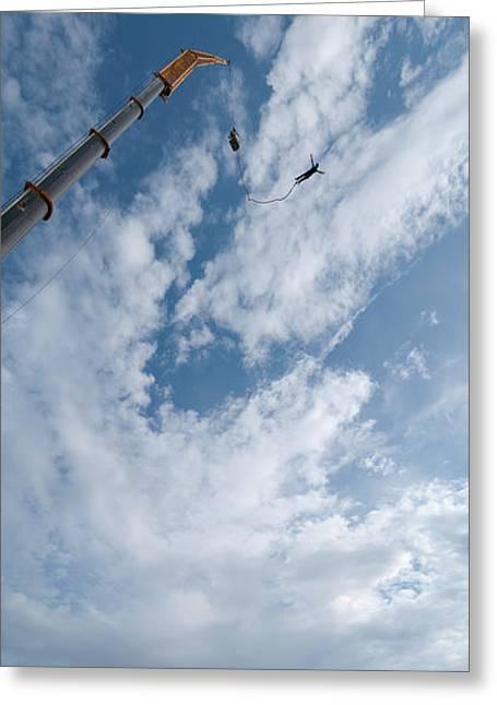 Adrenalin Greeting Cards - Bungee Jumping Panorama Greeting Card by Antony McAulay