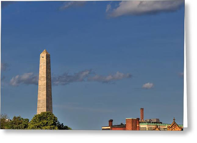 Historic Statue Greeting Cards - Bunker Hill Monument - Boston Greeting Card by Joann Vitali
