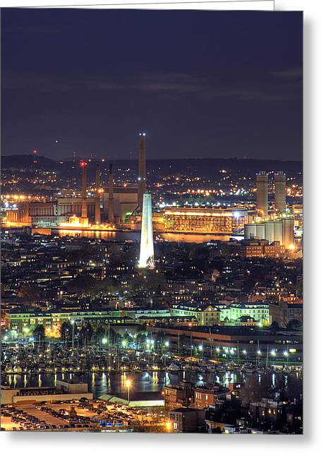 Boston Greeting Cards - Bunker Hill Monument  Greeting Card by Joann Vitali
