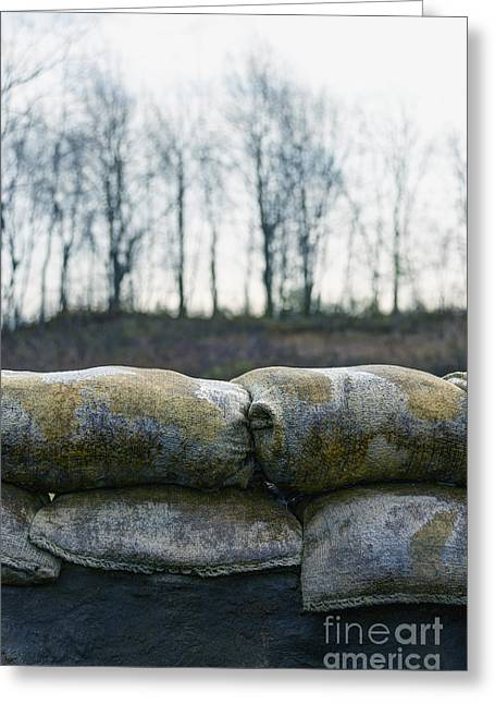 Sand Bags Greeting Cards - Bunker Greeting Card by Margie Hurwich