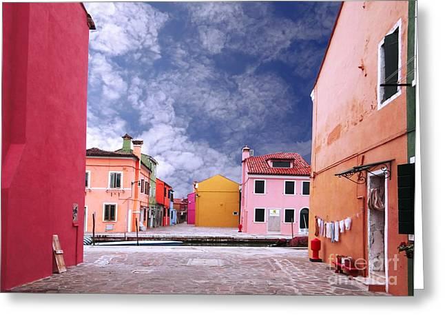 Casa Romantica Greeting Cards - Burano 01 Greeting Card by Giorgio Darrigo