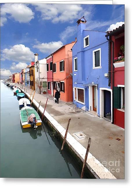 Casa Romantica Greeting Cards - Burano 03 Greeting Card by Giorgio Darrigo