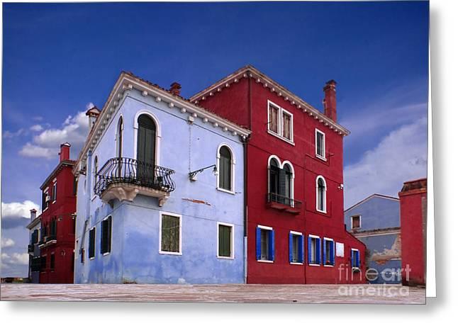 Casa Romantica Greeting Cards - Burano 04 Greeting Card by Giorgio Darrigo
