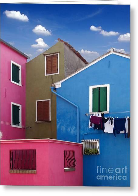 Casa Romantica Greeting Cards - Burano 10 Greeting Card by Giorgio Darrigo