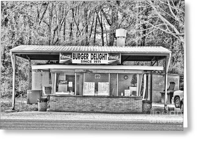 Local Restaurants Greeting Cards - Burger Delight Greeting Card by Scott Pellegrin