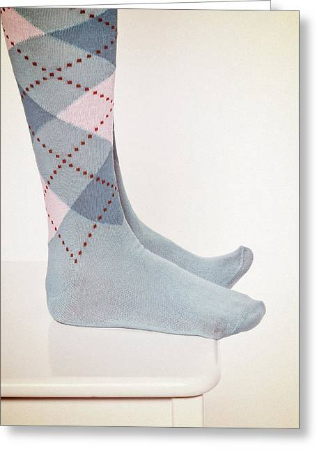 Foot Stool Greeting Cards - Burlington Socks Greeting Card by Joana Kruse