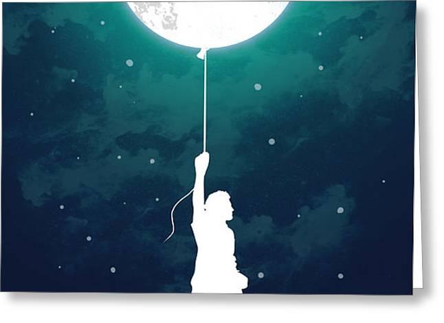 Burn the midnight oil Greeting Card by Budi Kwan