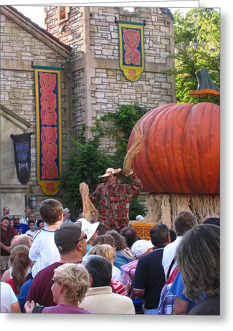 Pumpkin Greeting Cards - Busch Gardens - 121212 Greeting Card by DC Photographer