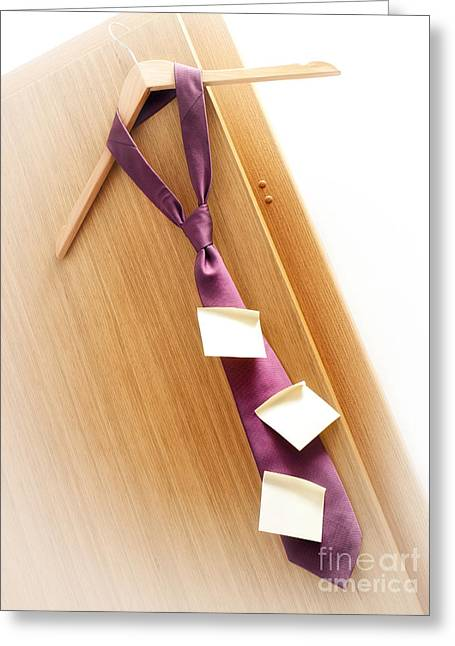 Obligation Greeting Cards - Business schedule Greeting Card by Sinisa Botas
