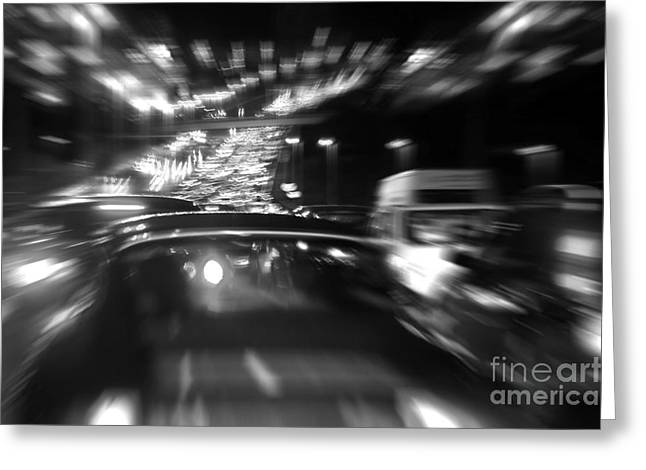 Asphalt Greeting Cards - Busy Highway Greeting Card by Carlos Caetano